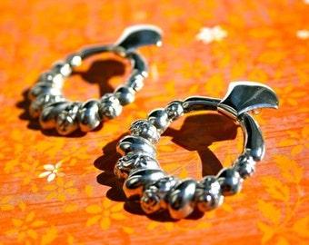 CLEARANCE! Silver tone hoop earrings