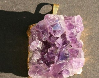 SALE! Magnificent gold dipped amethyst pendant