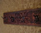 Antique Carved Coat Rack