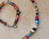 On the side of a rainbow Necklace and Bracelet set