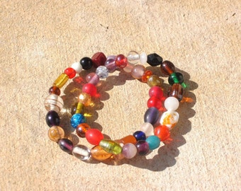 Set nO. 1 Glass Bead Bracelets Set of 2