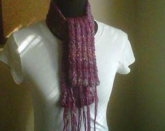 The Raspberry Kiss - a handknit scarf