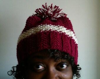 Peppermint Patty - a handknit hat