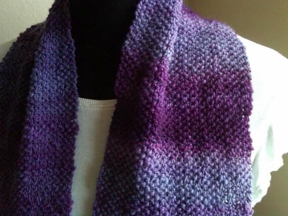 Violet Crush -  a handknit scarf