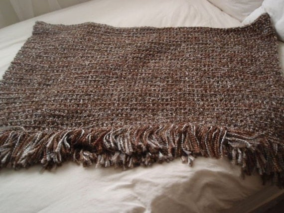 Crochet Patterns For Homespun Yarn : Shaker Crocheted Afghan/Blanket in Homespun Yarn