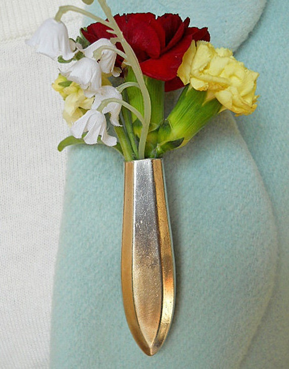 Lapel Vase - Tussie Mussie - 93 year-old knife in the SAYBROOK pattern given new life
