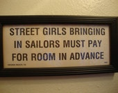 Vintage Street Girls picture/sign