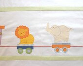 Applique duvet cover for toddlers- Zoo Train