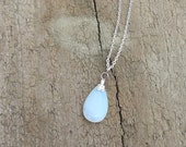 Bella's Moonstone Teardrop Necklace