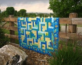 Sunny Days Patchwork Quilt -- Handmade quilt, Lap quilt, Wall quilt