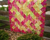 Crossing Paths -- Handmade Quilt, Lap Quilt, Wall Quilt, Geometric