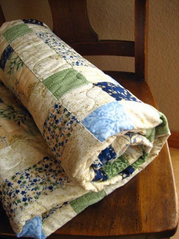 Secret Garden Quilt -- Handmade quilt, Lap quilt, Wall quilt