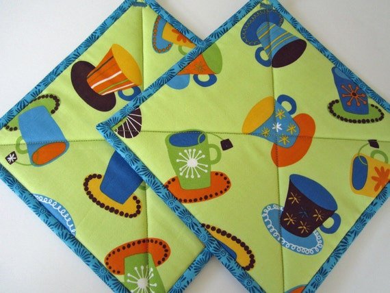 Pot Holders - Coffee or Tea