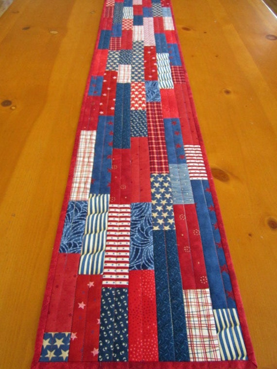 Table Runner Stars and Stripes