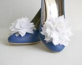 White Chiffon Shoe Clip 2 PCS Handmade