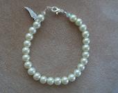 Pearl Bracelet, Wedding Jewelry, by Brendas Beading