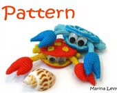 Rupert the Crab - pattern for crocheted amigurumi / tutorial - CreatedByMarina