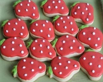 Strawberry Sugar Cookies - 1 Dozen