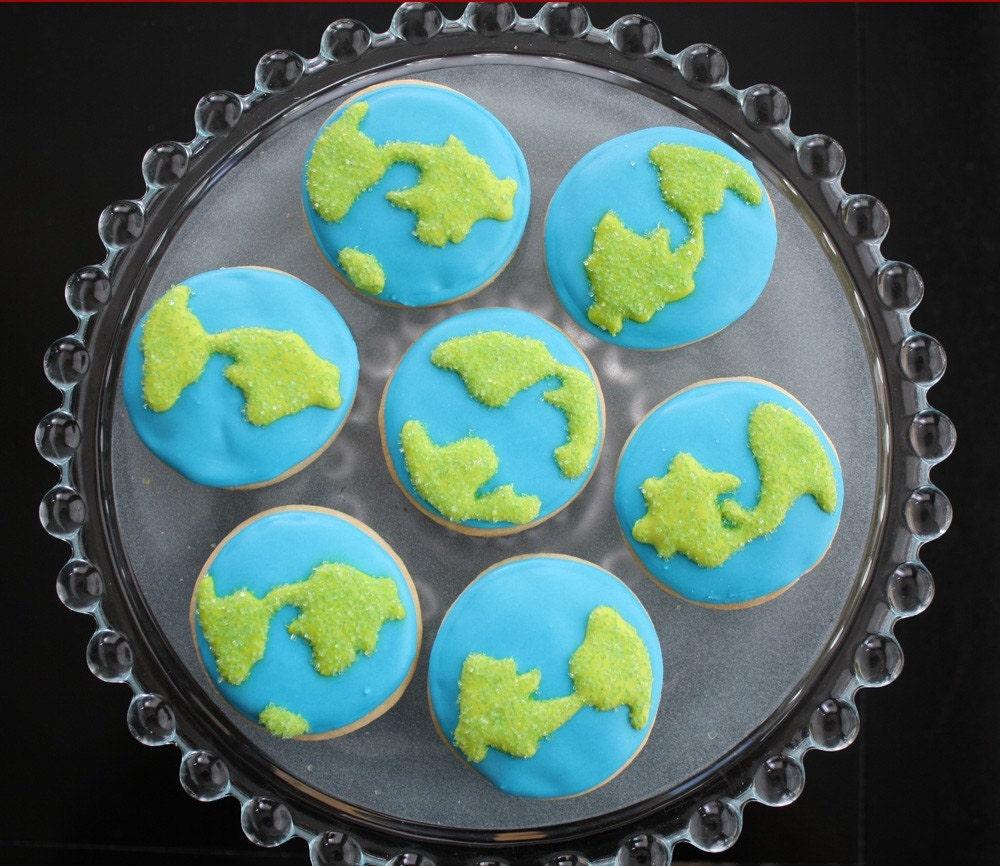 Earth Day Decorated Sugar Cookies 1 Dozen