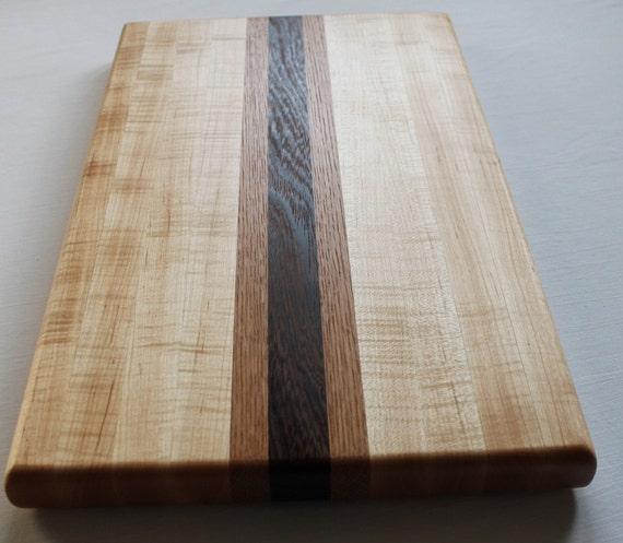 Maple, White Oak and Panga Panga  Wood Cutting Board