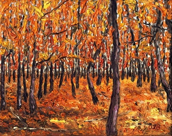 Fall Forest, 8 x 10in., giclee print