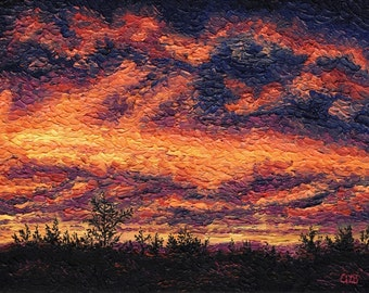 Sunset, 9 x 12 in., giclee print