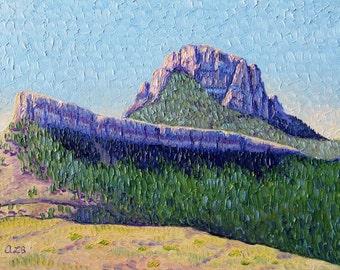 Scenic View (Wyoming), Original Oil Painting, 9 x 12 in.