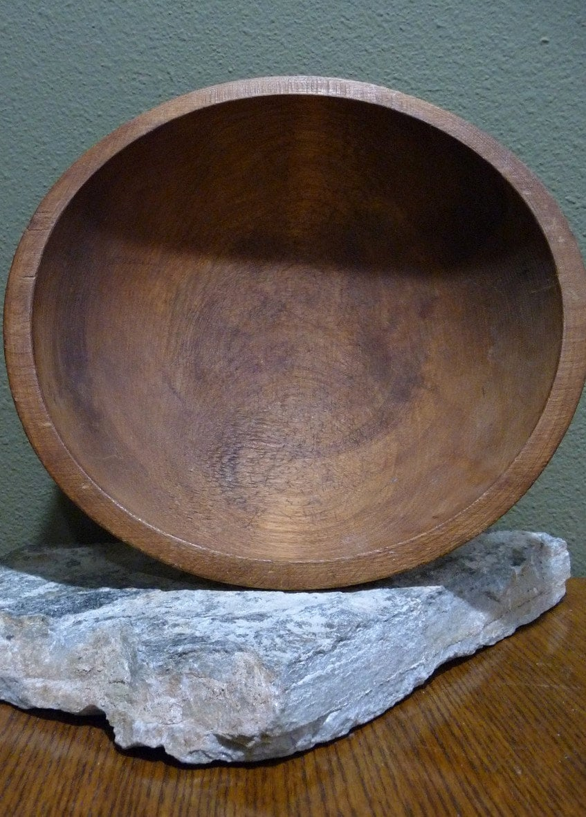 Vintage Munising Wooden Dough Bowl