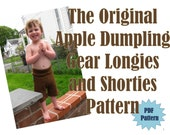 Apple Dumpling Gear Longies...Shorties...Pants...PDF Sewing Pattern Ebook..DIY