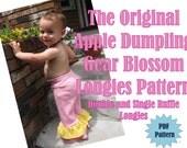 Apple Dumpling Gear Blossom Longies...Pants...PDF Sewing Pattern Ebook..DIY