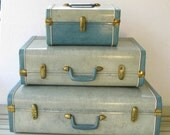 Reserved for michele Vintage Suitcase Luggage Set