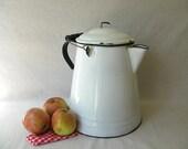 Vintage Enamel Coffee Pot Large