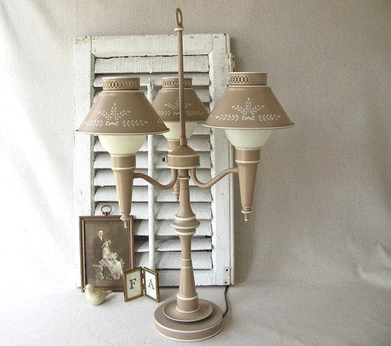 Vintage Tole Lamp Metal
