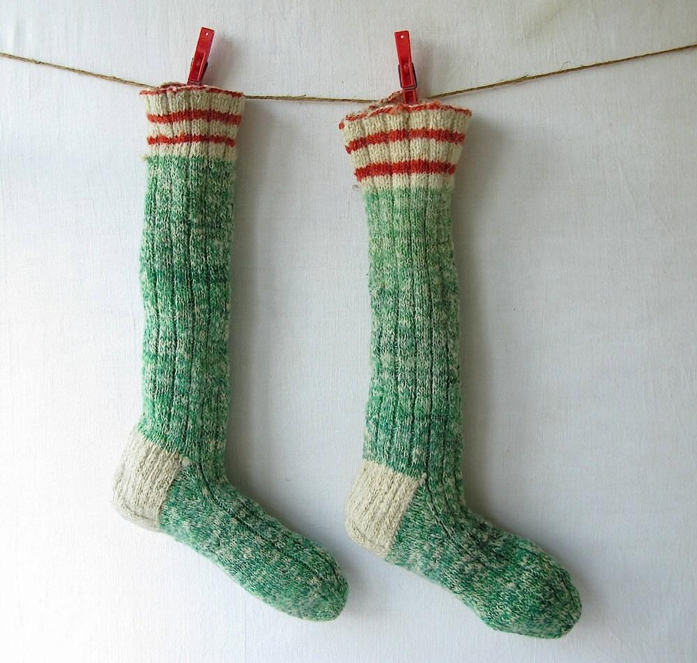 Vintage christmas stockings for Fashion christmas stockings
