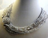 Whiter Shade of Pale - pearl and quartz choker - Reserved for Donna