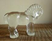 Kosta Boda Hoglund Scandinavian Art Glass Horse Paperweight