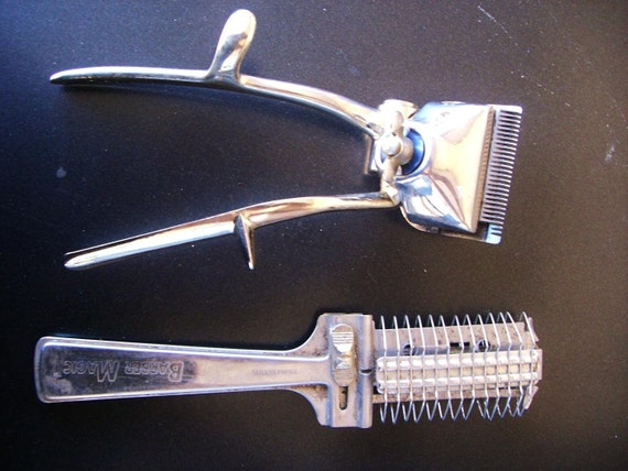 Vintage Stainless Steel Barber / Hair Cutting Tools