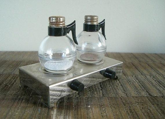 Vintage Diner Coffee Pots Salt and Pepper Set