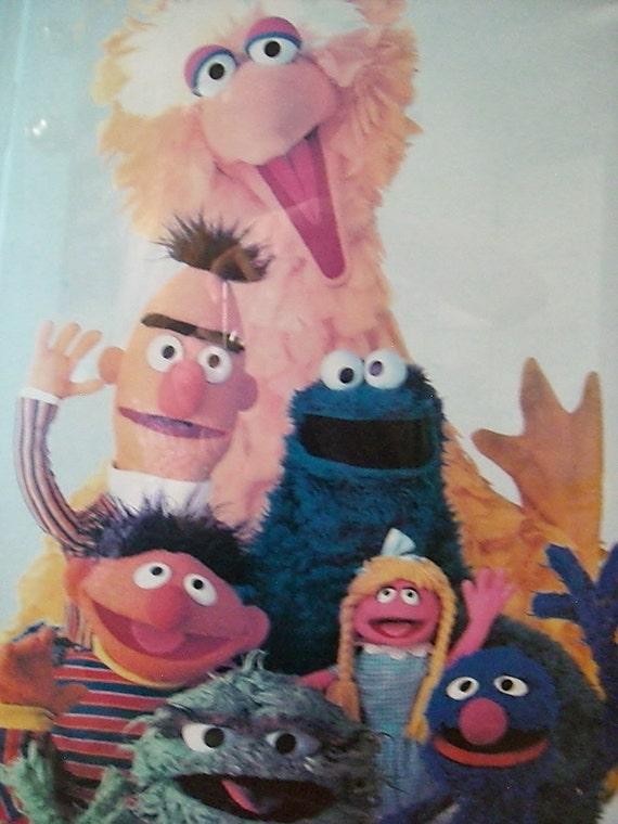 Vintage Sesame Street Muppets Poster 1979 Framed By Objetluv