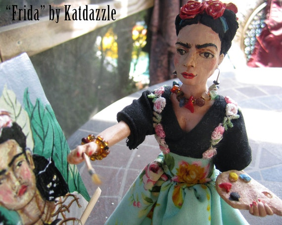 Frida Kahlo de Rivera, the artist from Mexico City