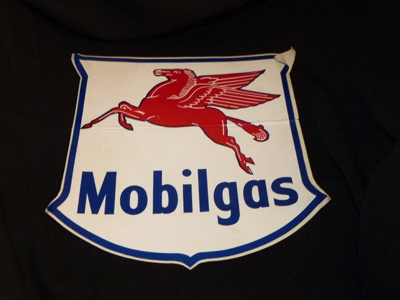 MOBILGAS Pegasus Peel and Stick Decal  9 inch for gas pump