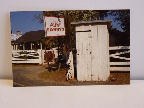 Vintage Aunt Fanny's Cabin ,  Famous Restaurant  Post Card Smyrna GA