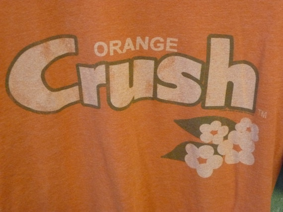 Old School Vintage Orange Crush Tshirt size Small