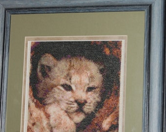 COMPLETED CROSS STITCH - Cub