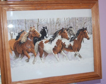 COMPLETED CROSS STITCH - Winter Ride