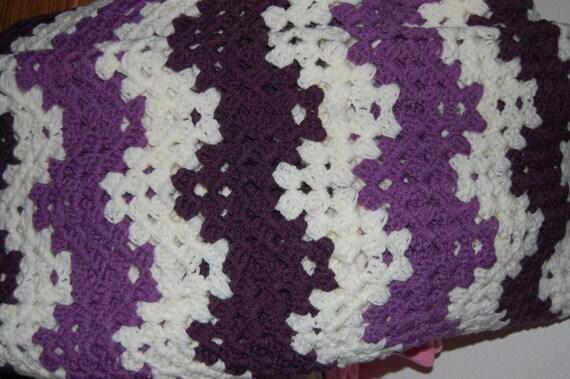 Crocheted Purple Afghan