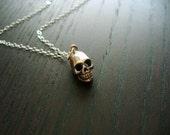 Skully - Solid Sterling Silver Skull Necklace