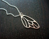Silver Butterfly Wing Necklace