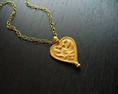 RESERVED FOR KMARIE82 - 24k Gold Indian Love Bird Necklace