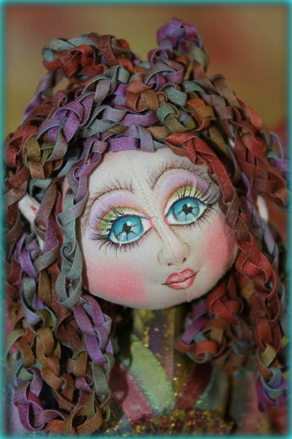 Gigi ....cloth art doll RESERVED FORSHELLEY